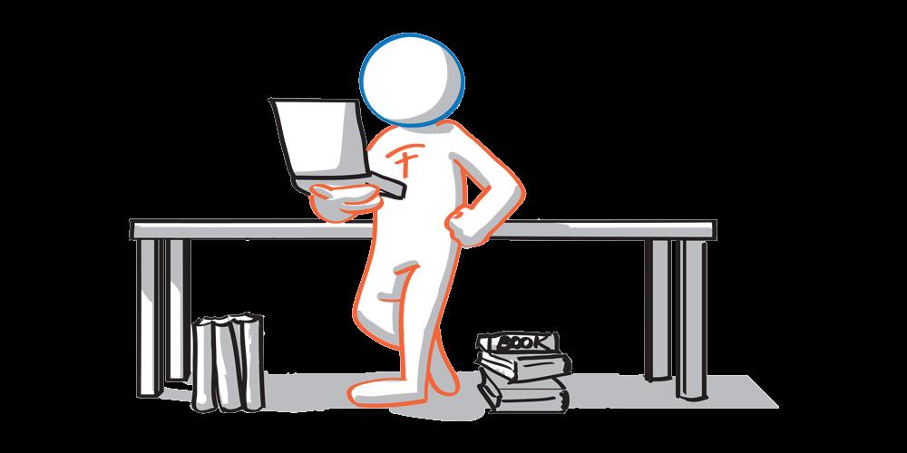 I traduttori online studenti madrelingua hanno una scrivania che non ospita ancora alcun ferro del mestiere o lavoro.